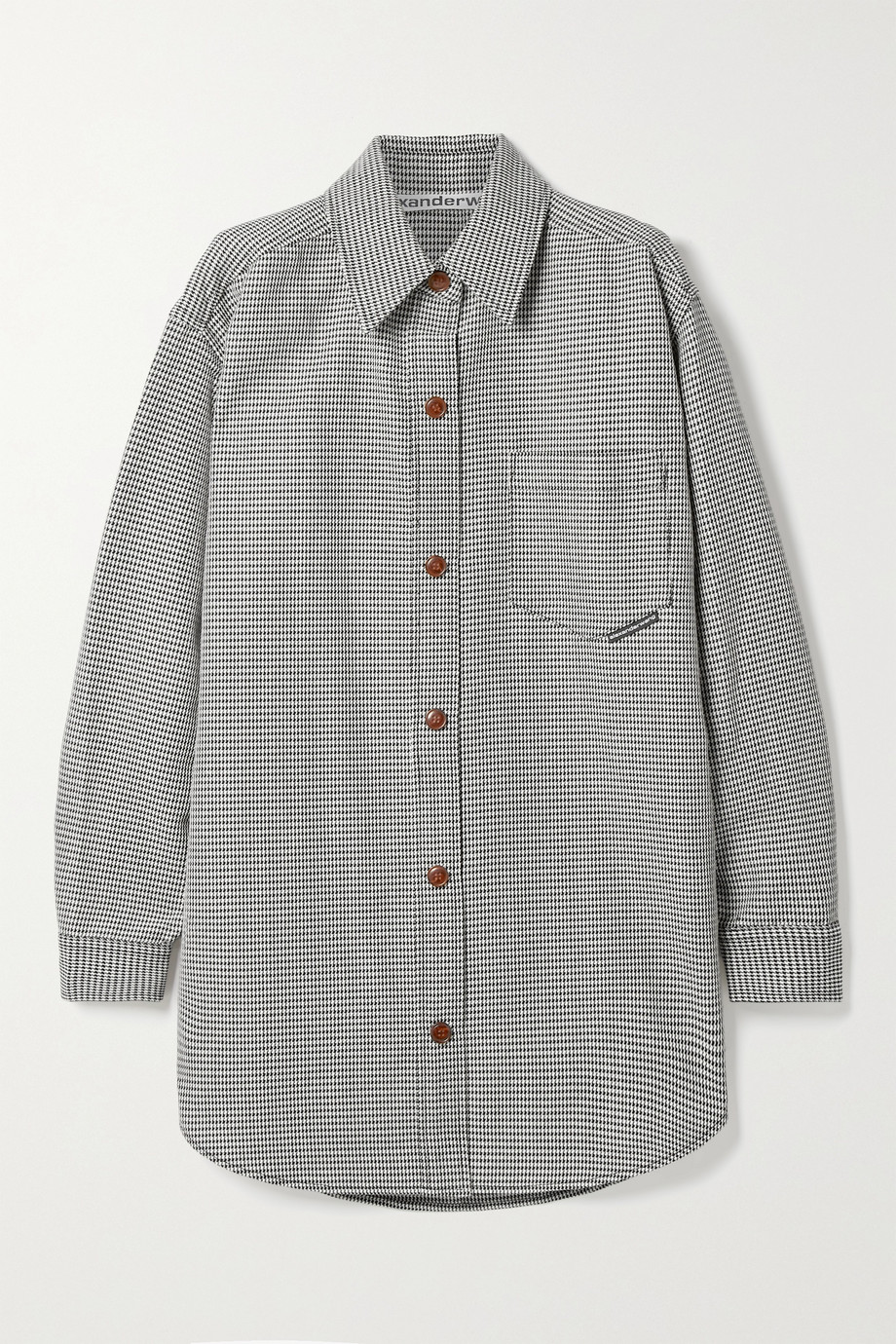 Alexander Wang Oversized houndstooth wool-blend jacket