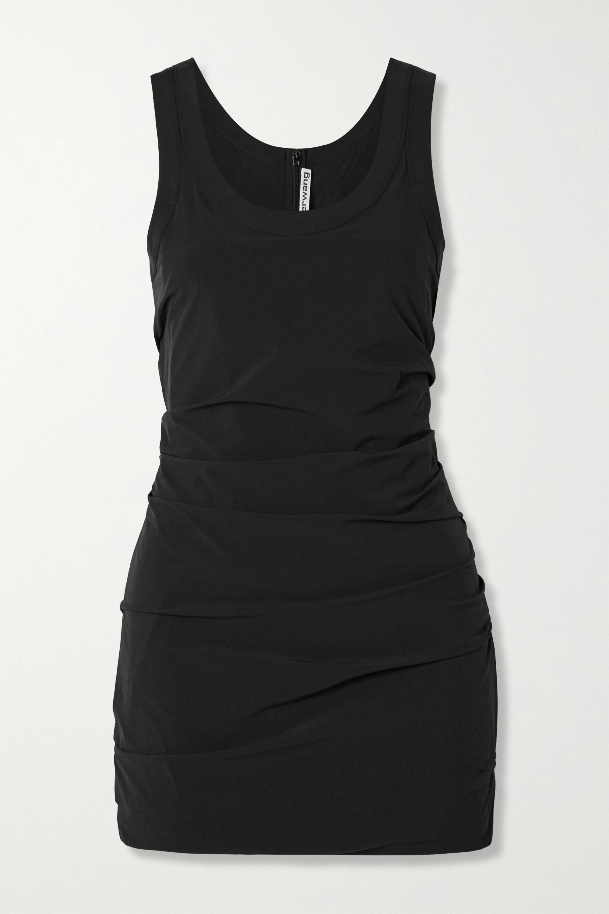 Alexander Wang Ruched stretch-shell mini dress