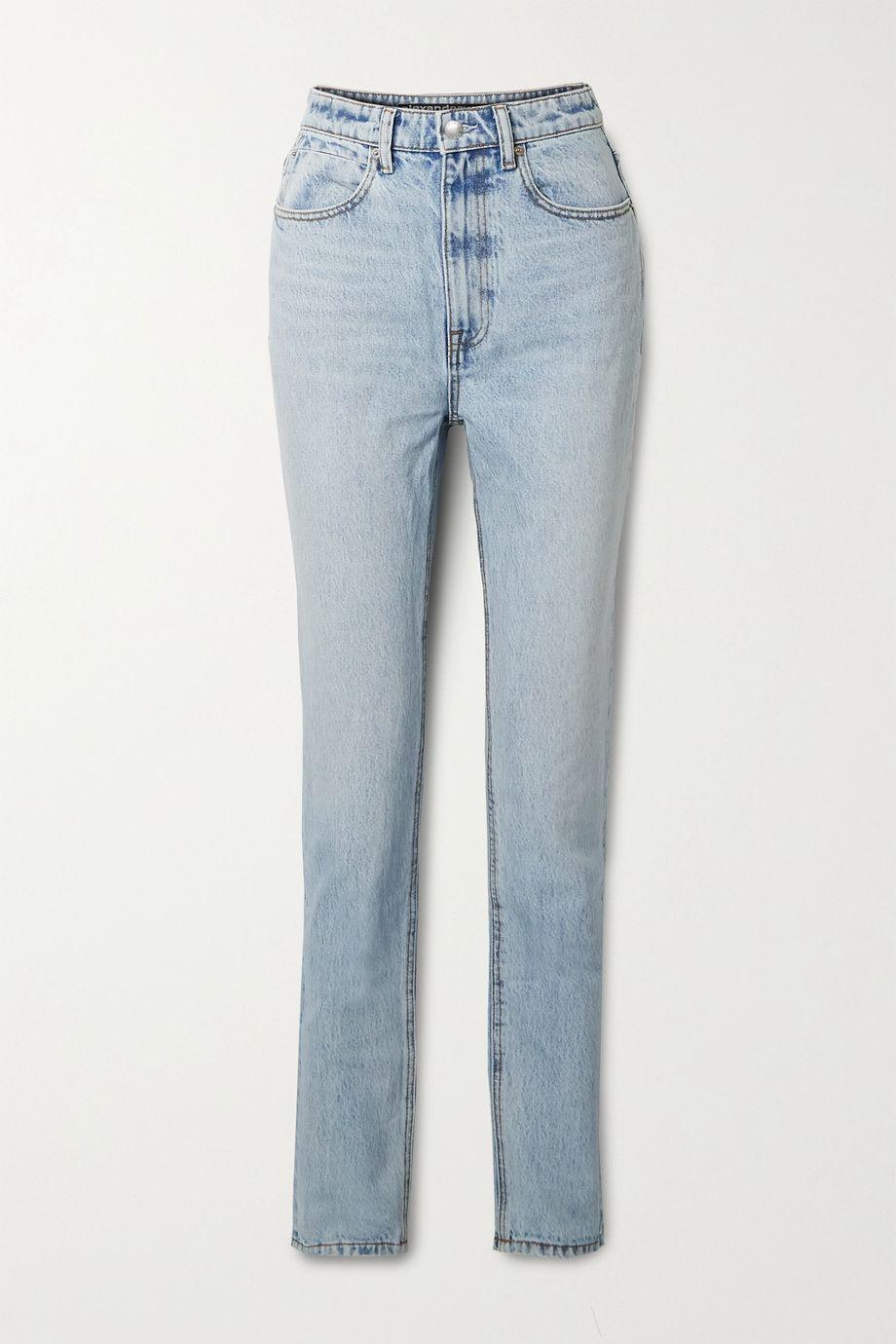 Alexander Wang High-rise straight-leg jeans