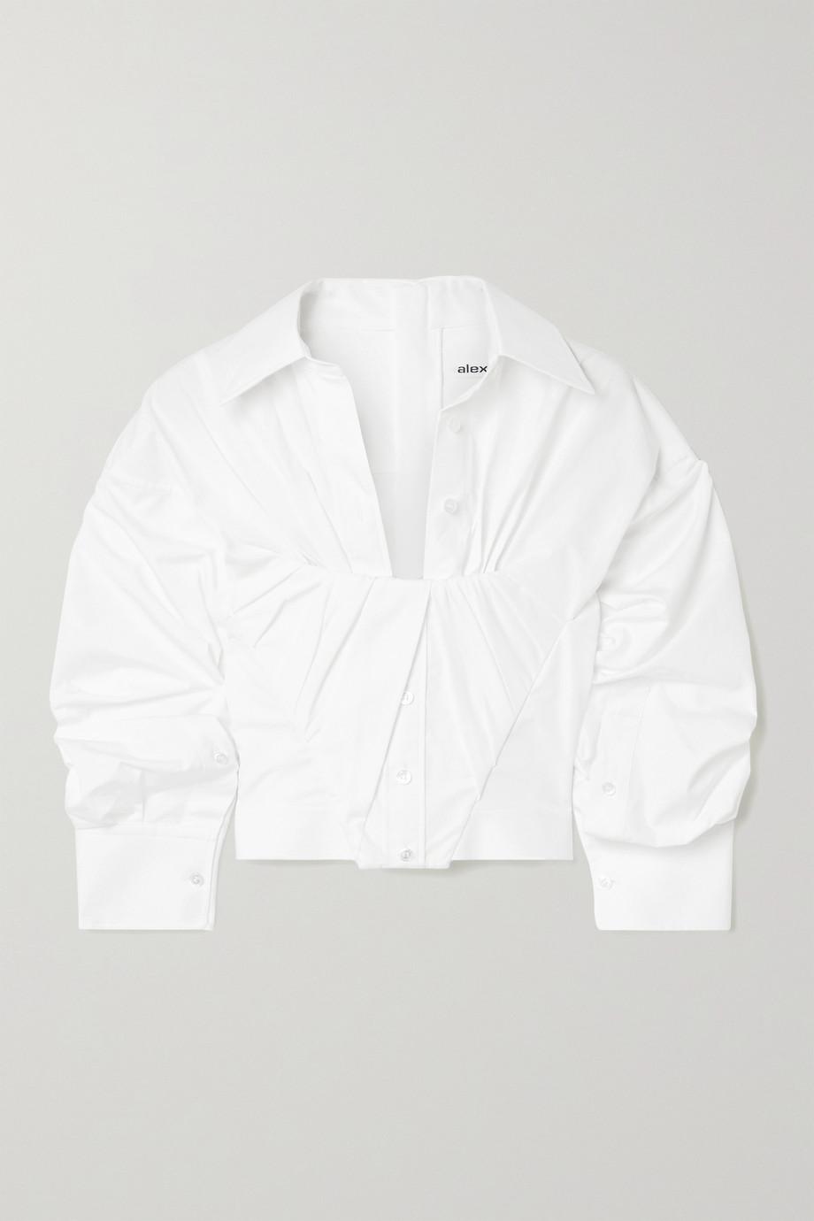 Alexander Wang 缩褶纯棉府绸短款衬衫