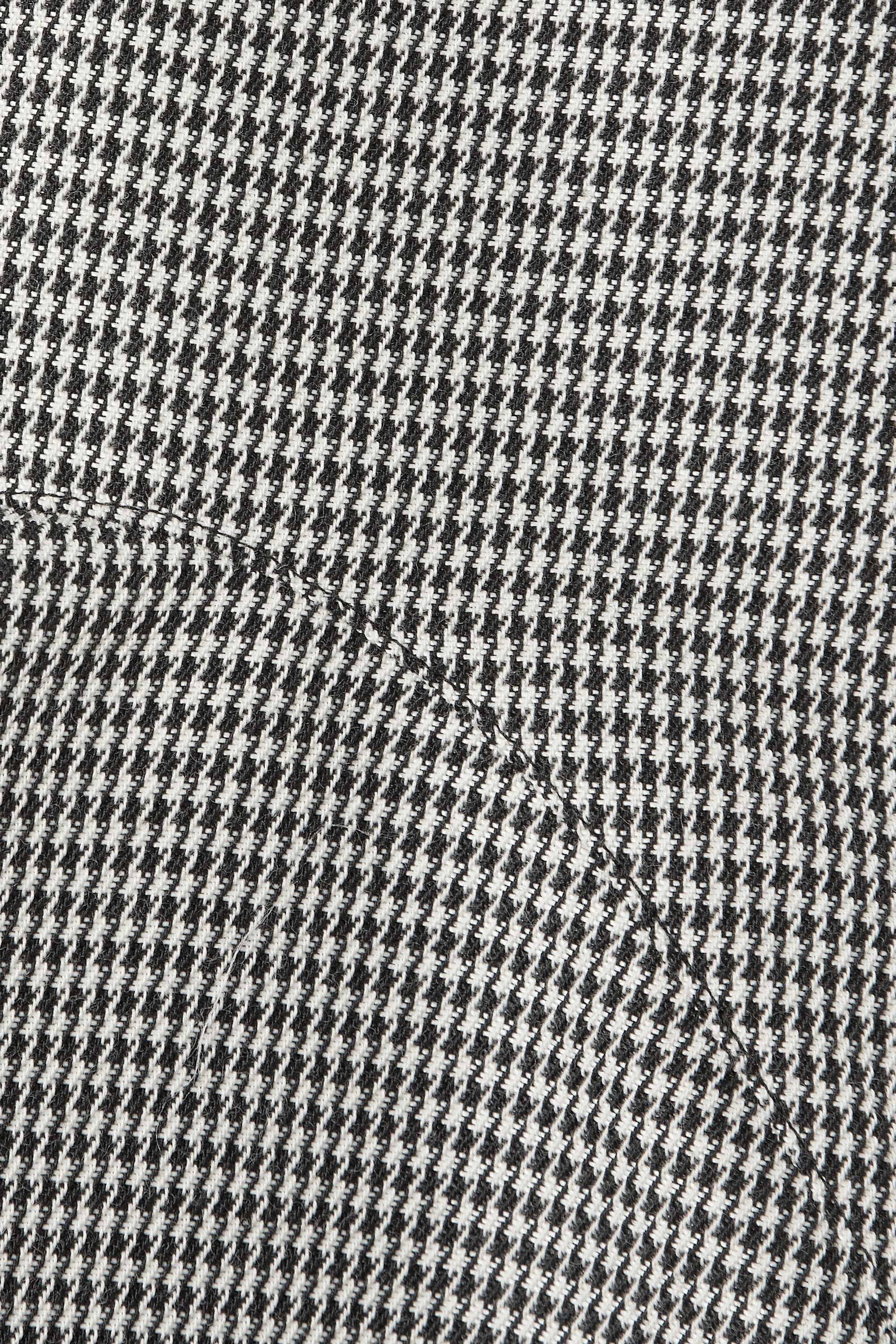 Black Asymmetric Ruffled Leather-trimmed Houndstooth Wool-blend Mini Skirt | Alexander Wang
