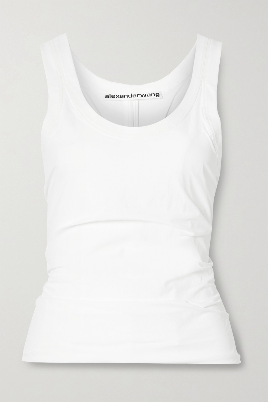 Alexander Wang Ruched stretch-shell tank