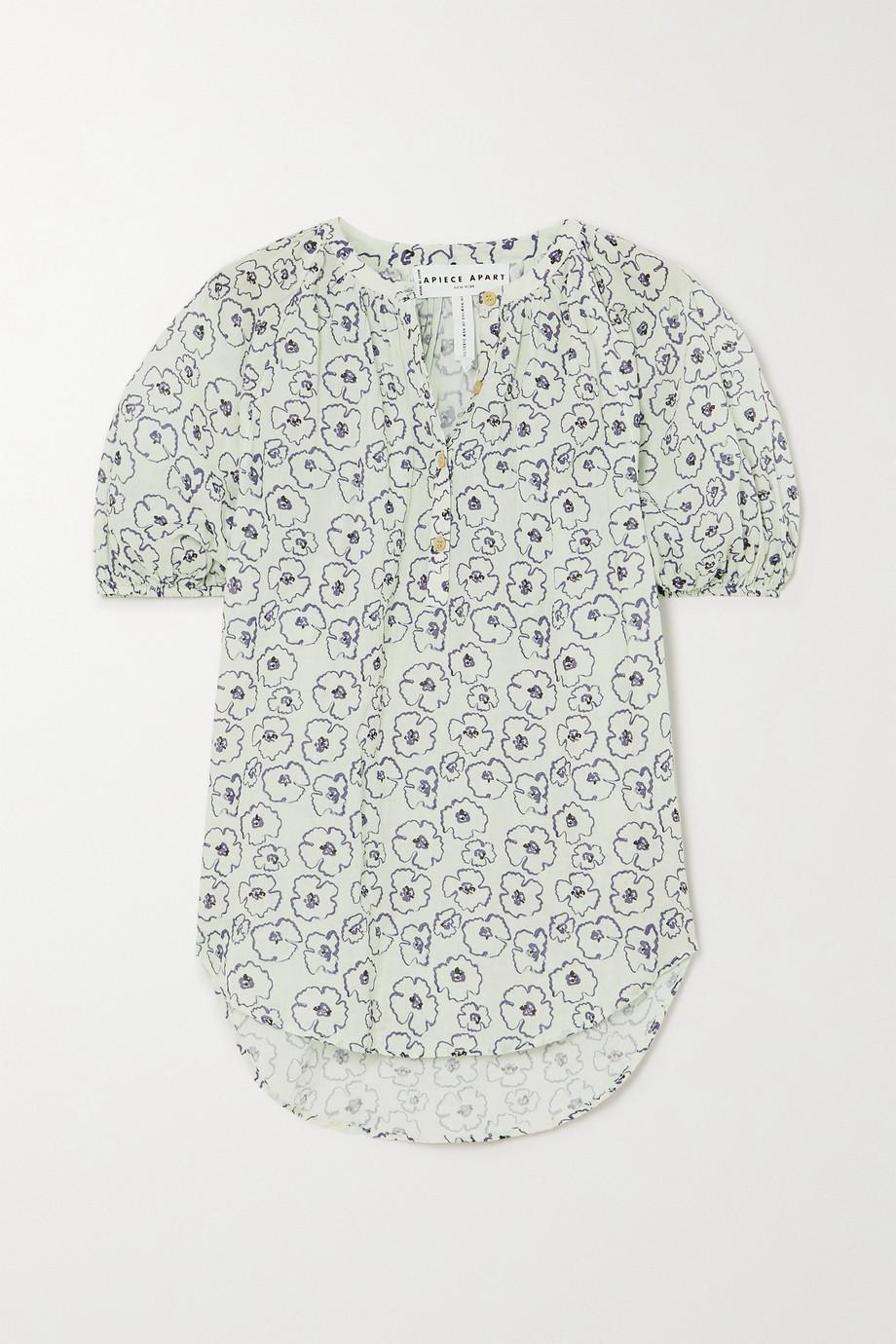 APIECE APART Rosa floral-print organic cotton blouse