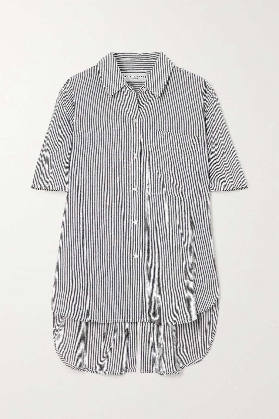 APIECE APART Iza striped organic cotton shirt