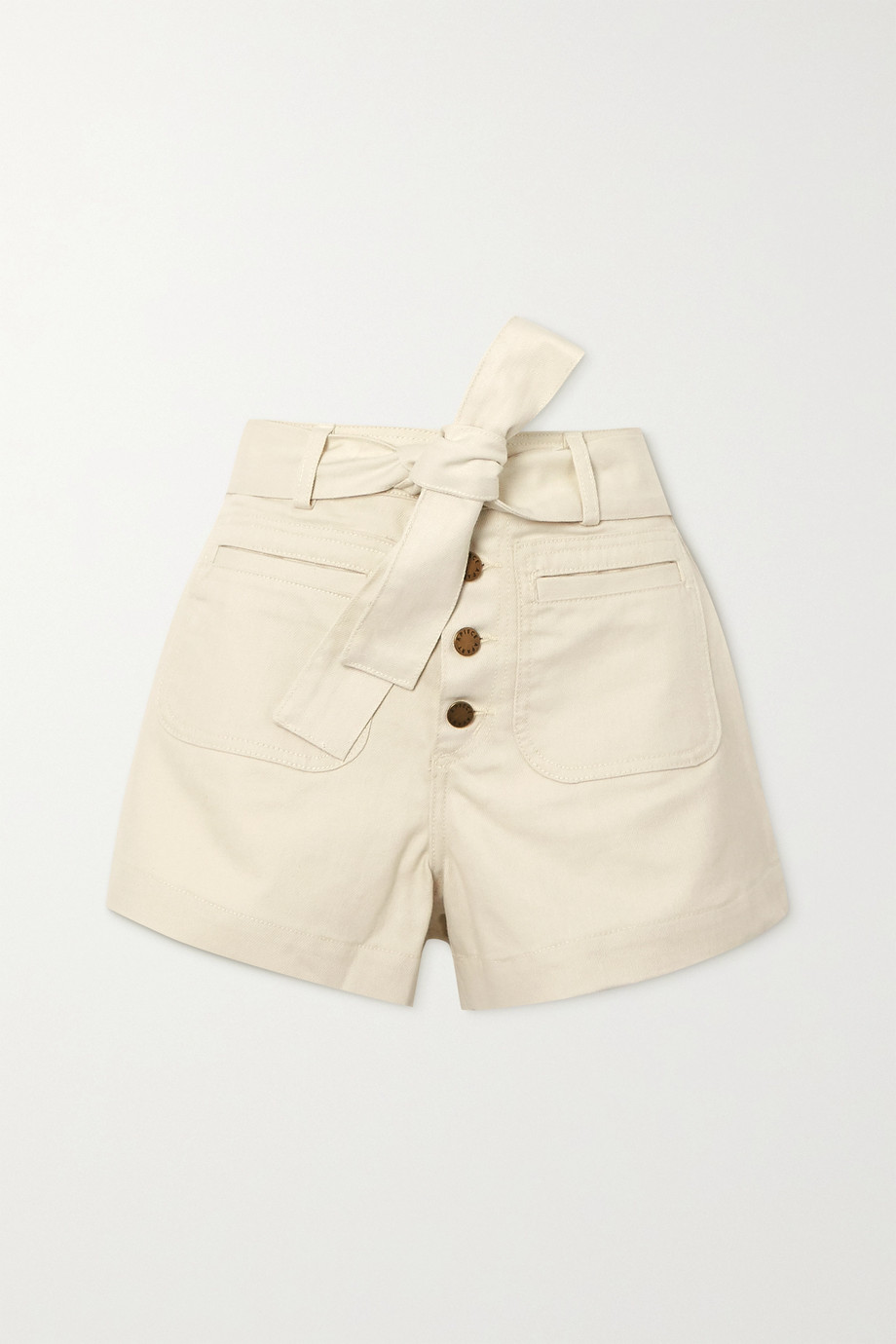 APIECE APART Marston belted denim shorts