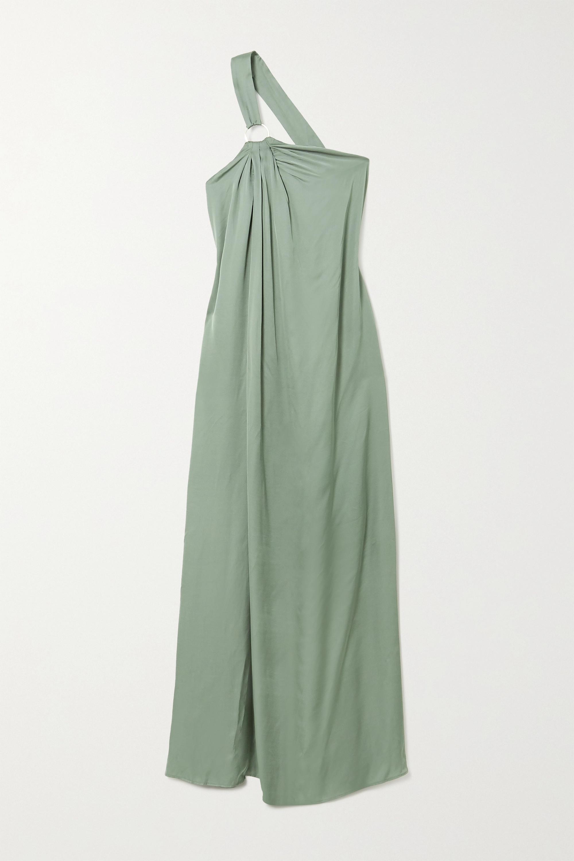 Cult Gaia Theodora one-shoulder open-back jersey maxi dress
