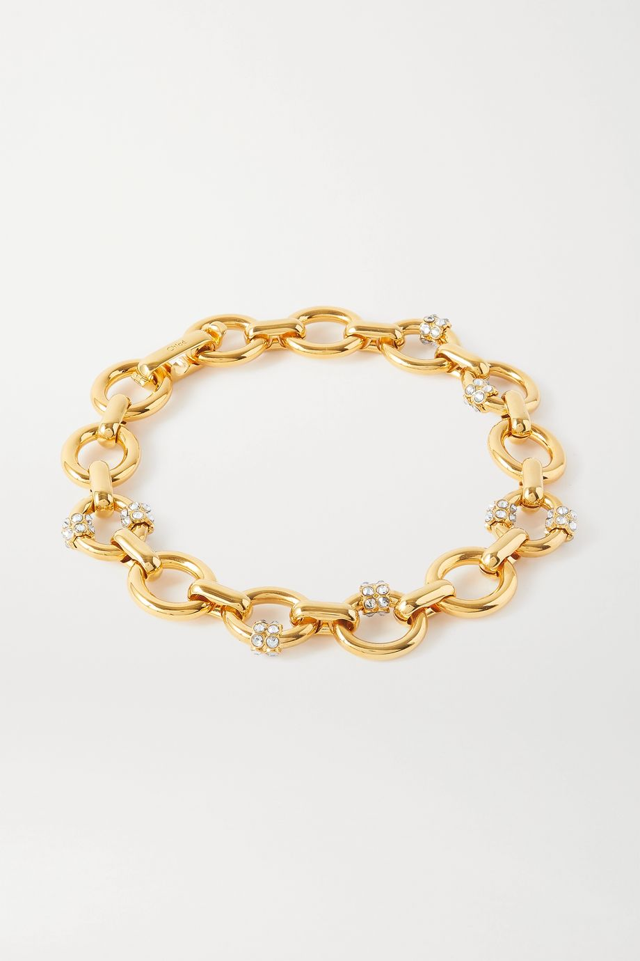 Chloé Egée gold-tone crystal necklace