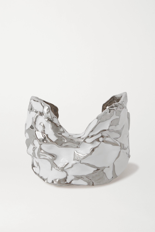Chloé 搪瓷银色手镯