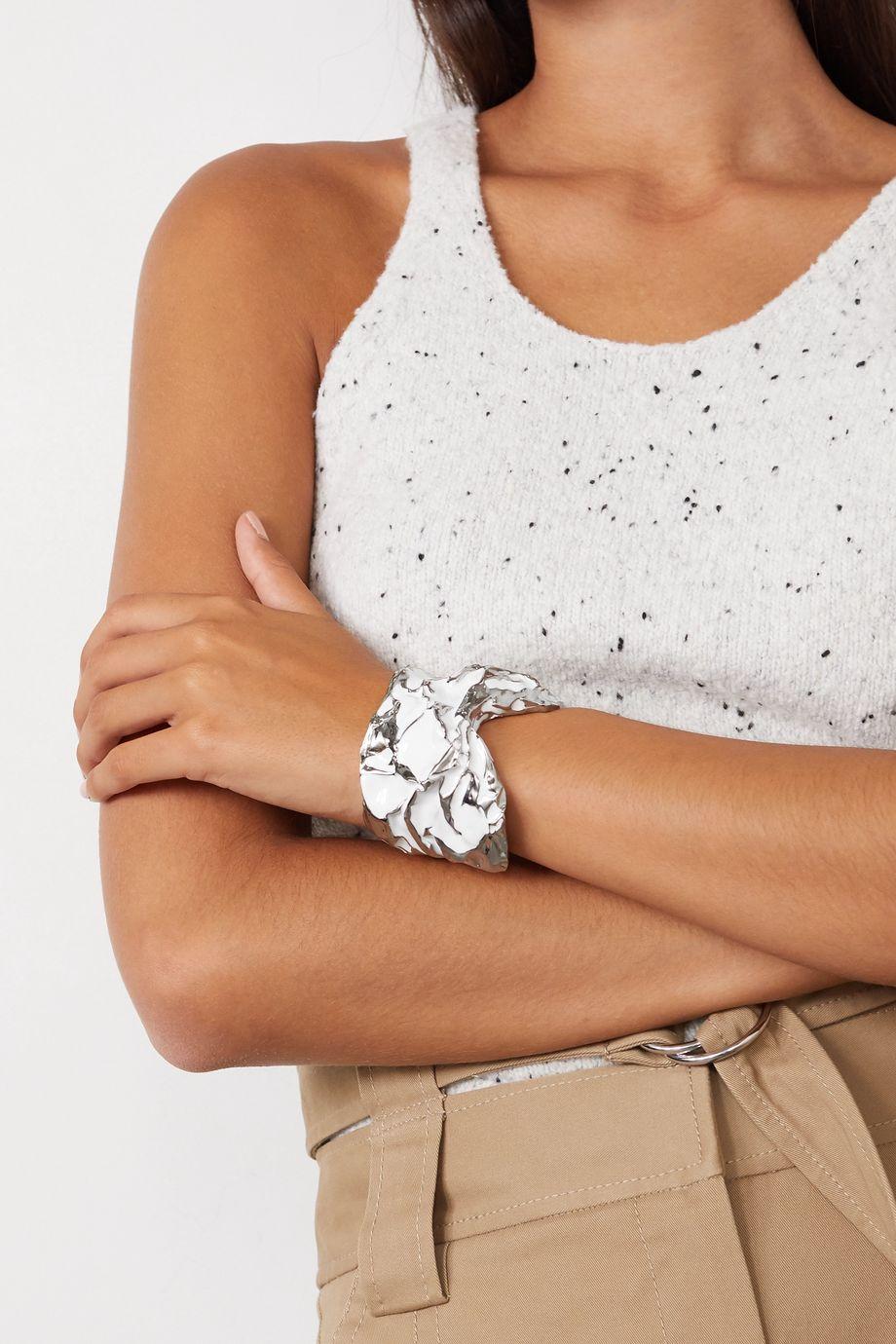 Chloé Silver-tone and enamel cuff