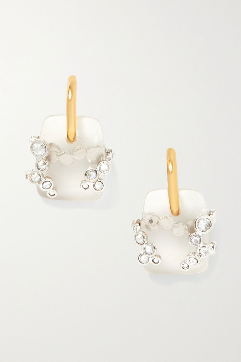 Chloé Gold-tone, quartz and crystal earrings