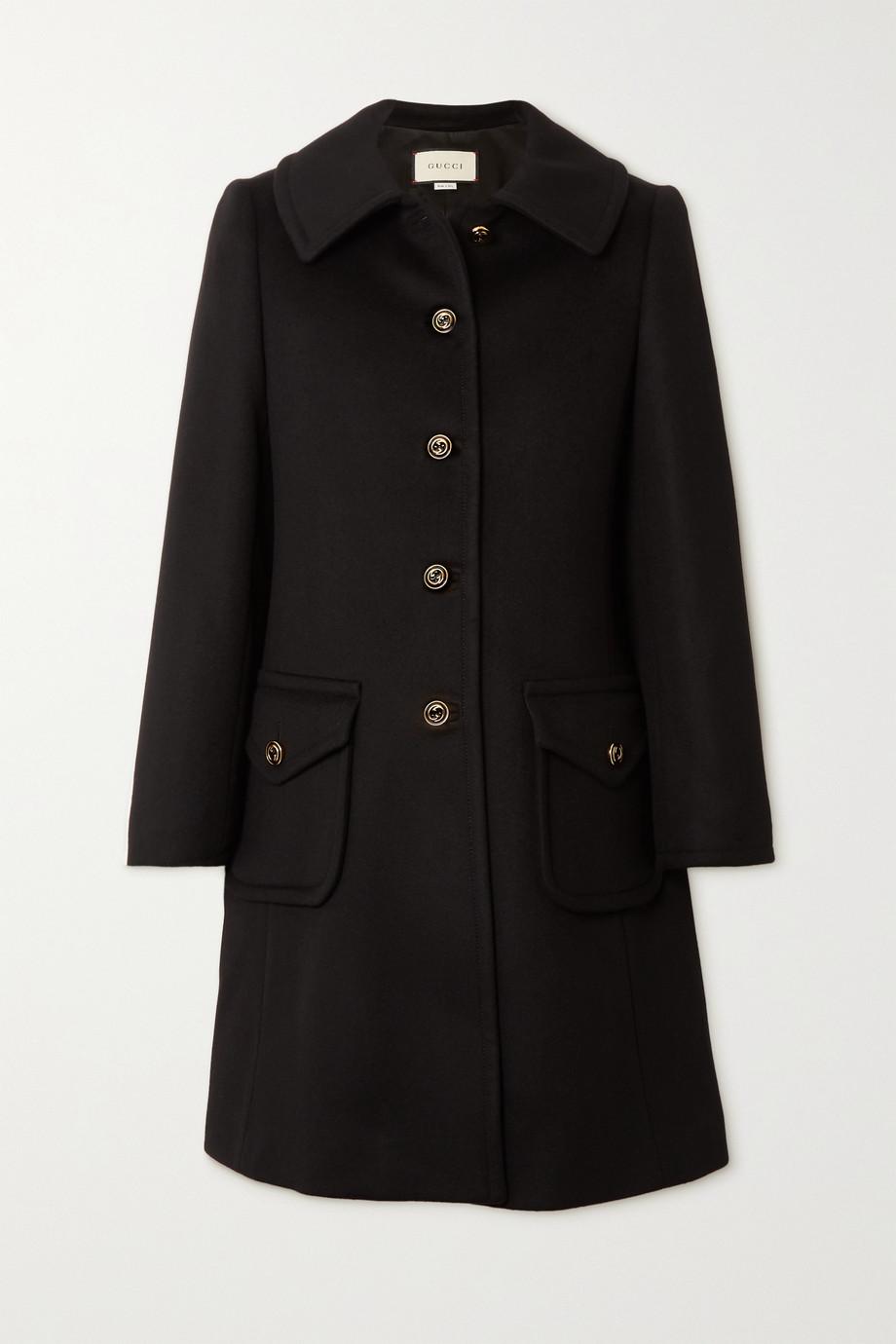Gucci Manteau en feutre de laine à boutons