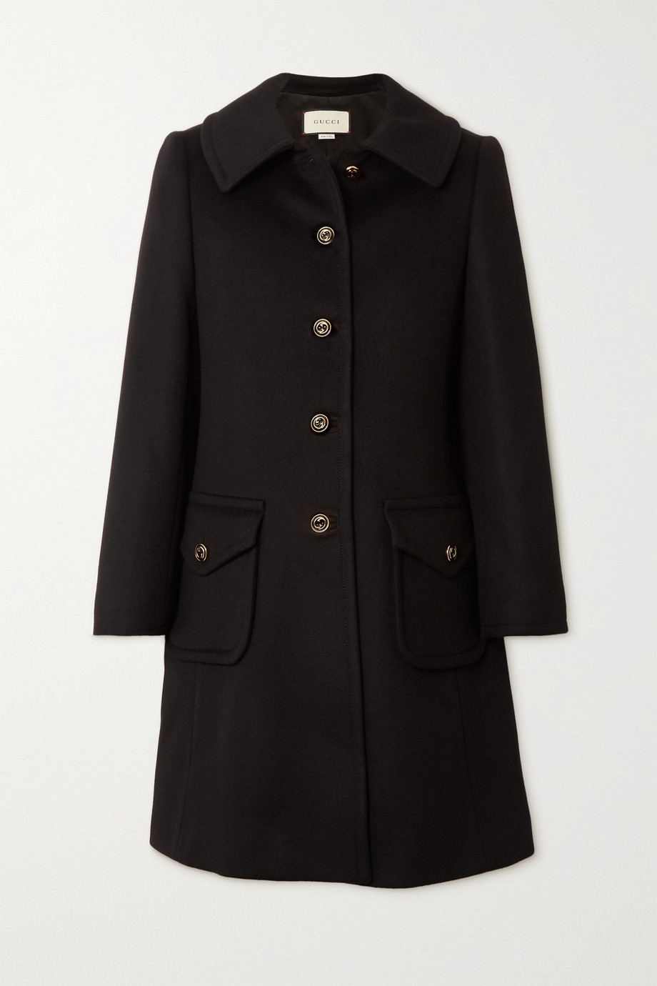 Gucci Button-embellished wool-felt coat
