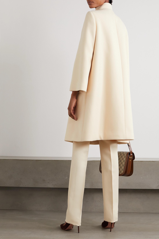 Gucci Manteau à double boutonnage en feutre de laine mélangée