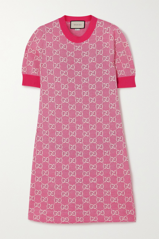 Gucci Mini-robe en laine et coton mélangés intarsia
