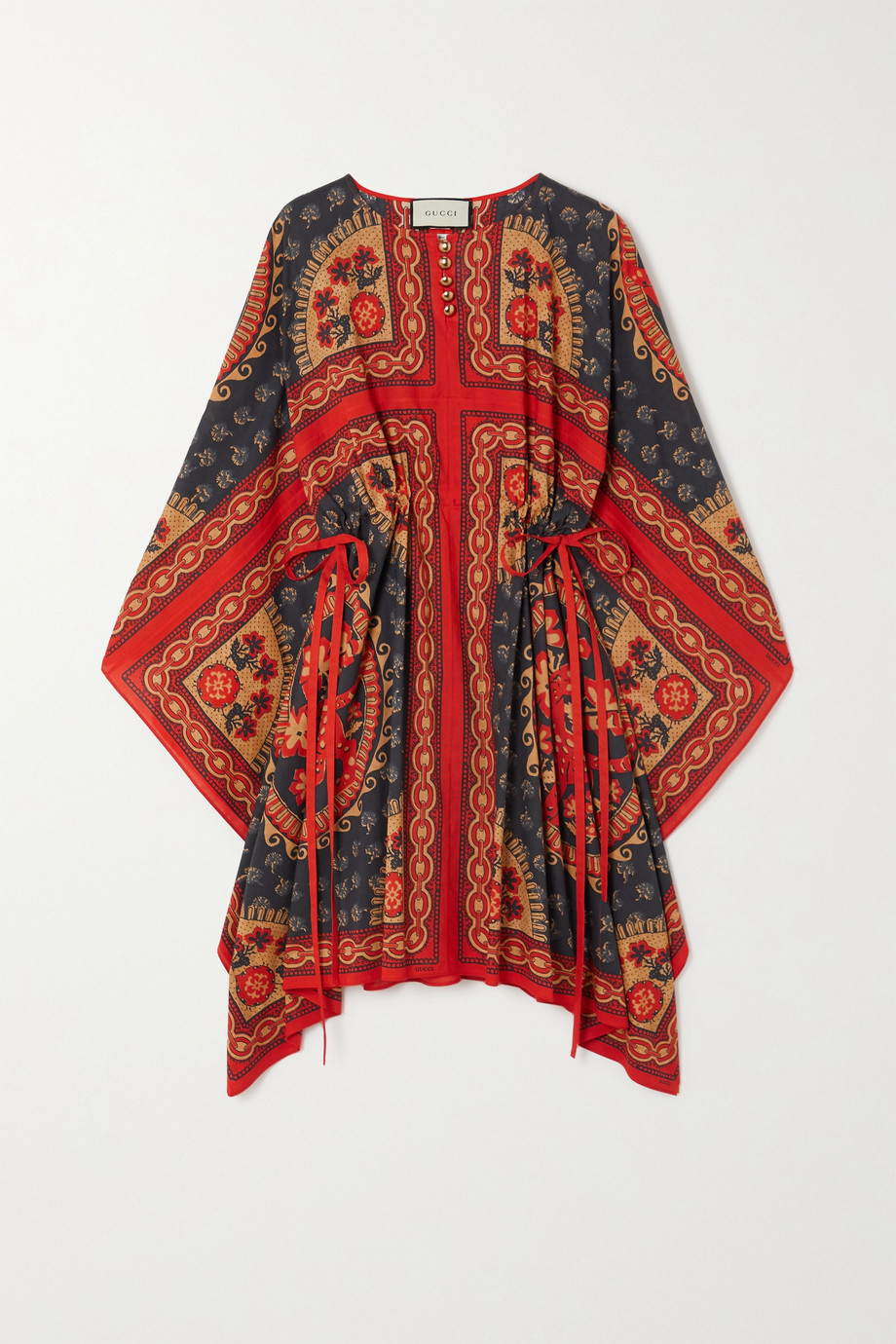 Gucci Button-detailed printed cotton kaftan