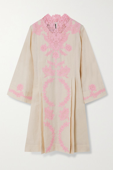 Gucci - Crocheted Lace-trimmed Linen Kaftan