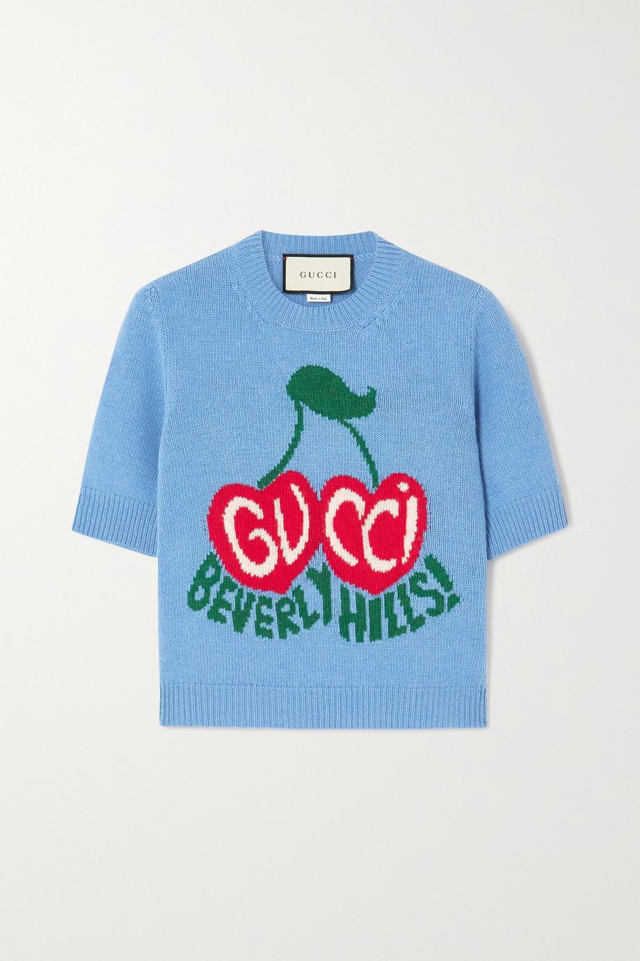 Gucci 嵌花羊毛毛衣