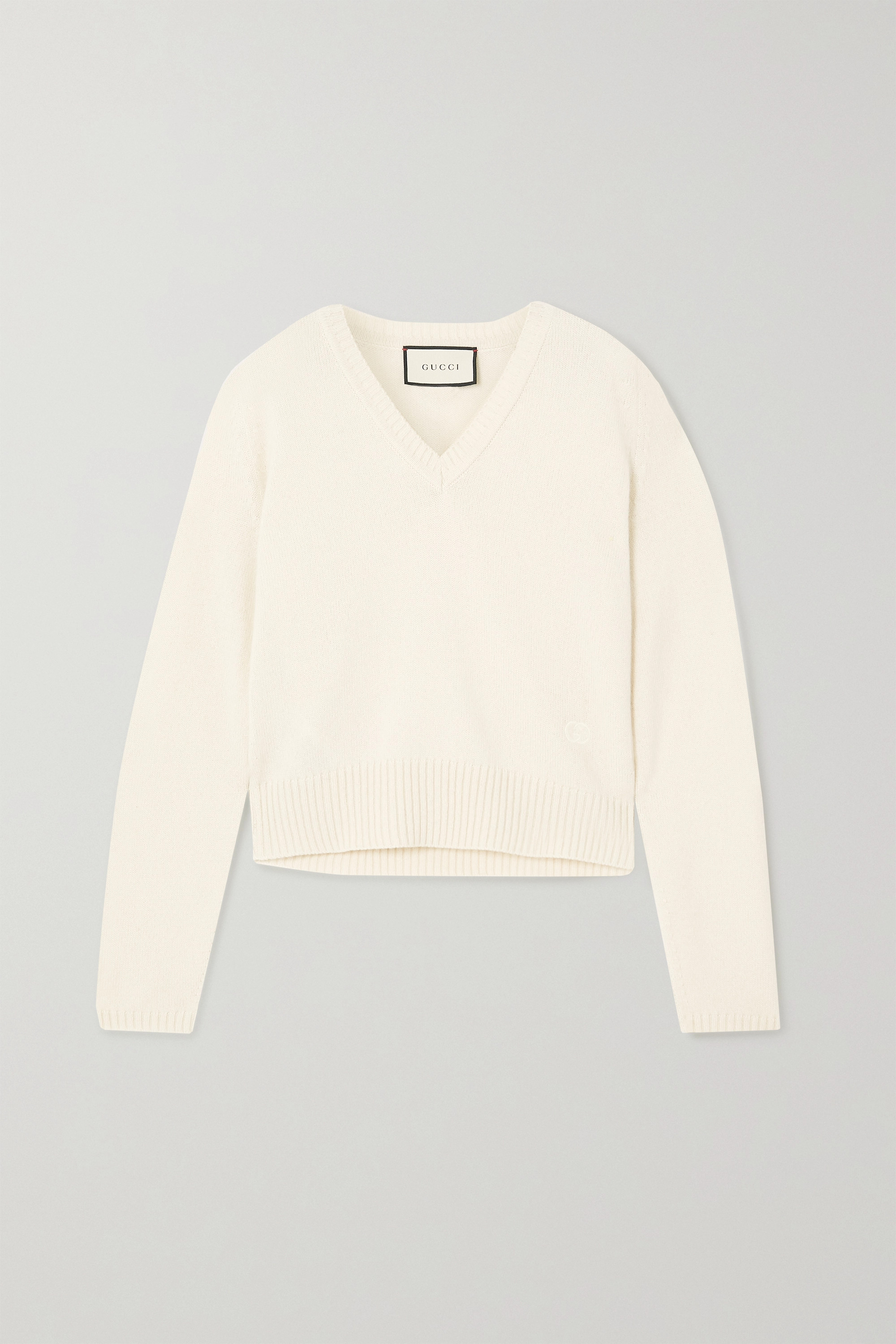 Gucci Embroidered cashmere sweater