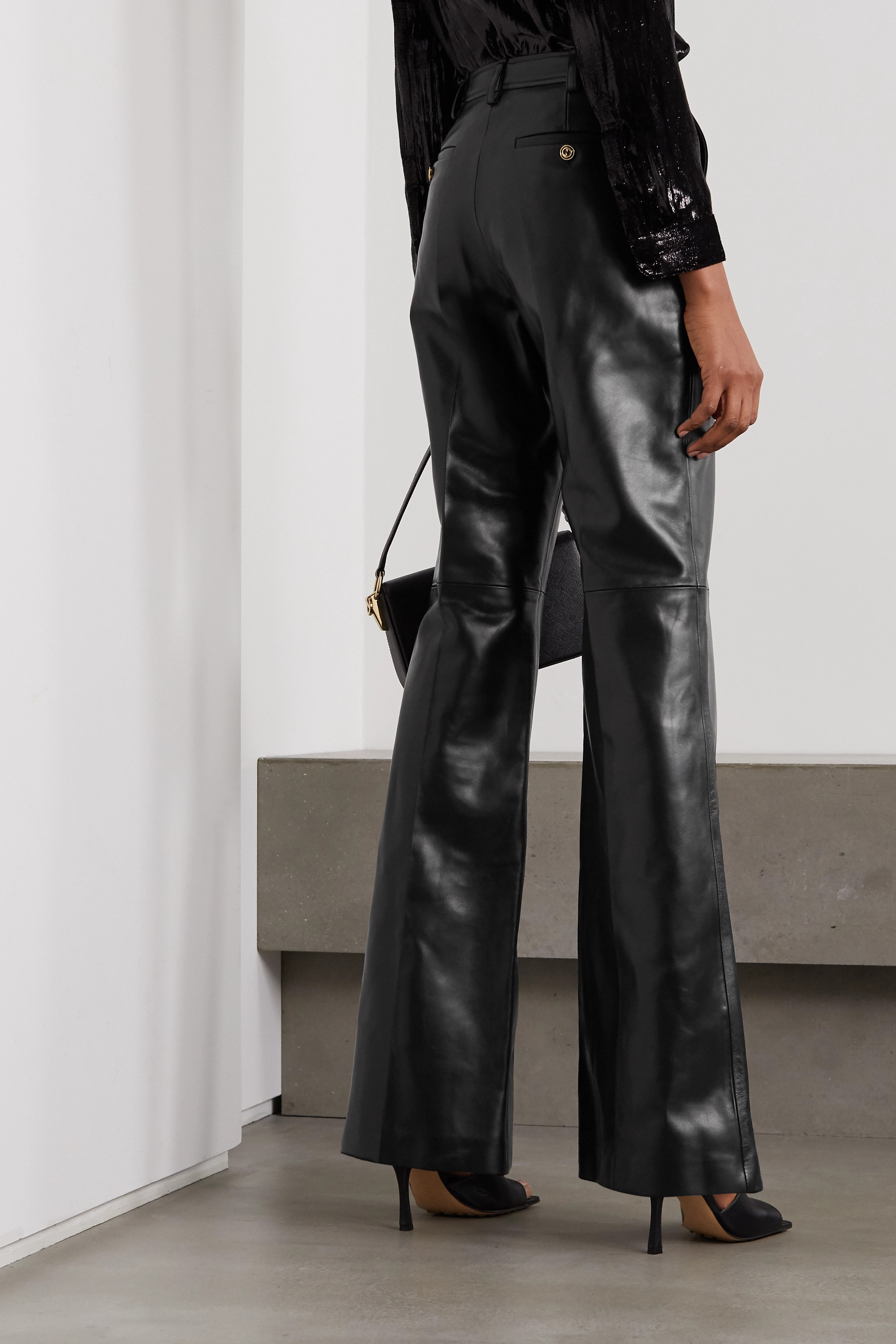 Gucci Leather straight-leg pants