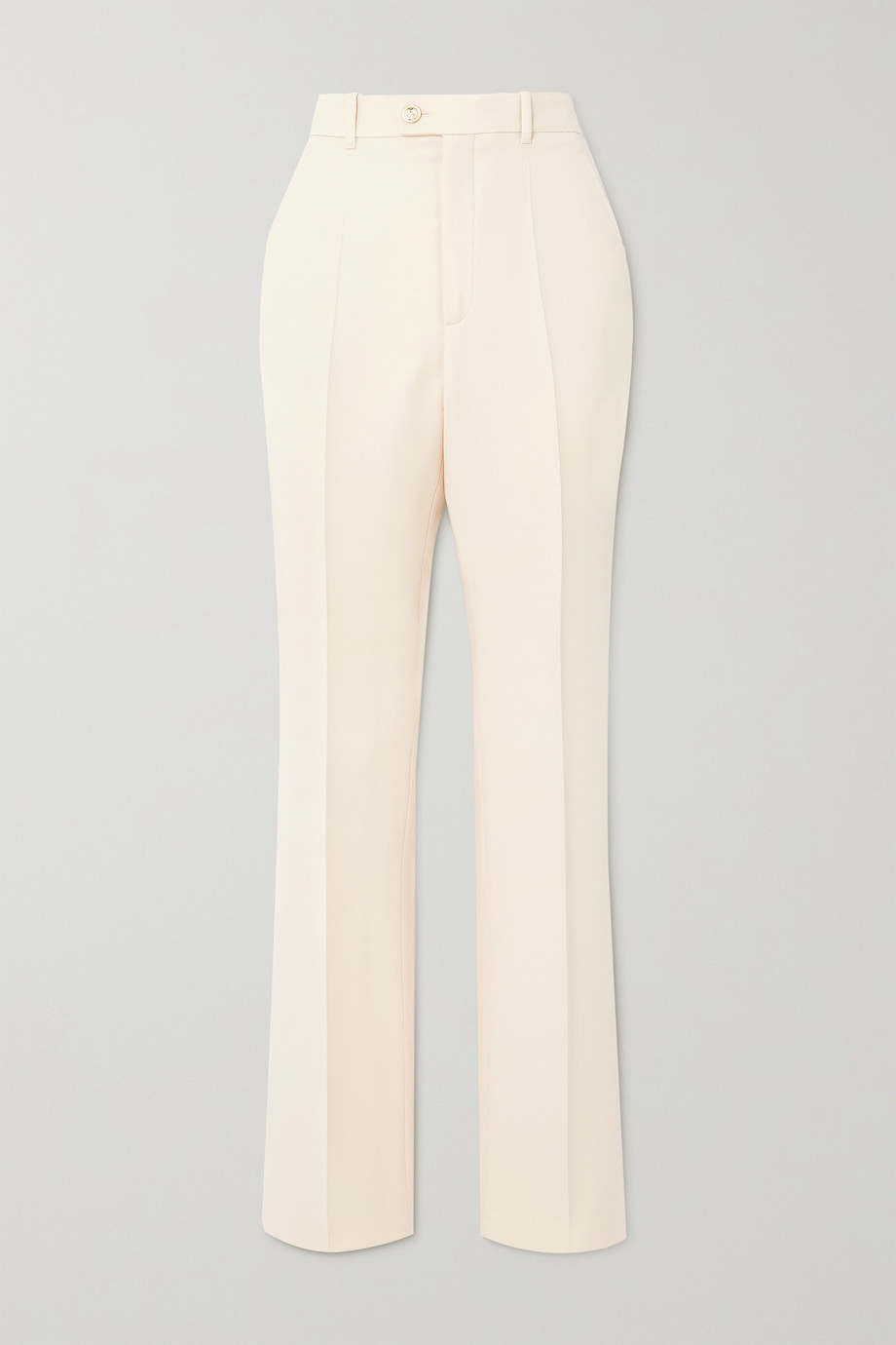 Gucci Silk and wool-blend straight-leg pants