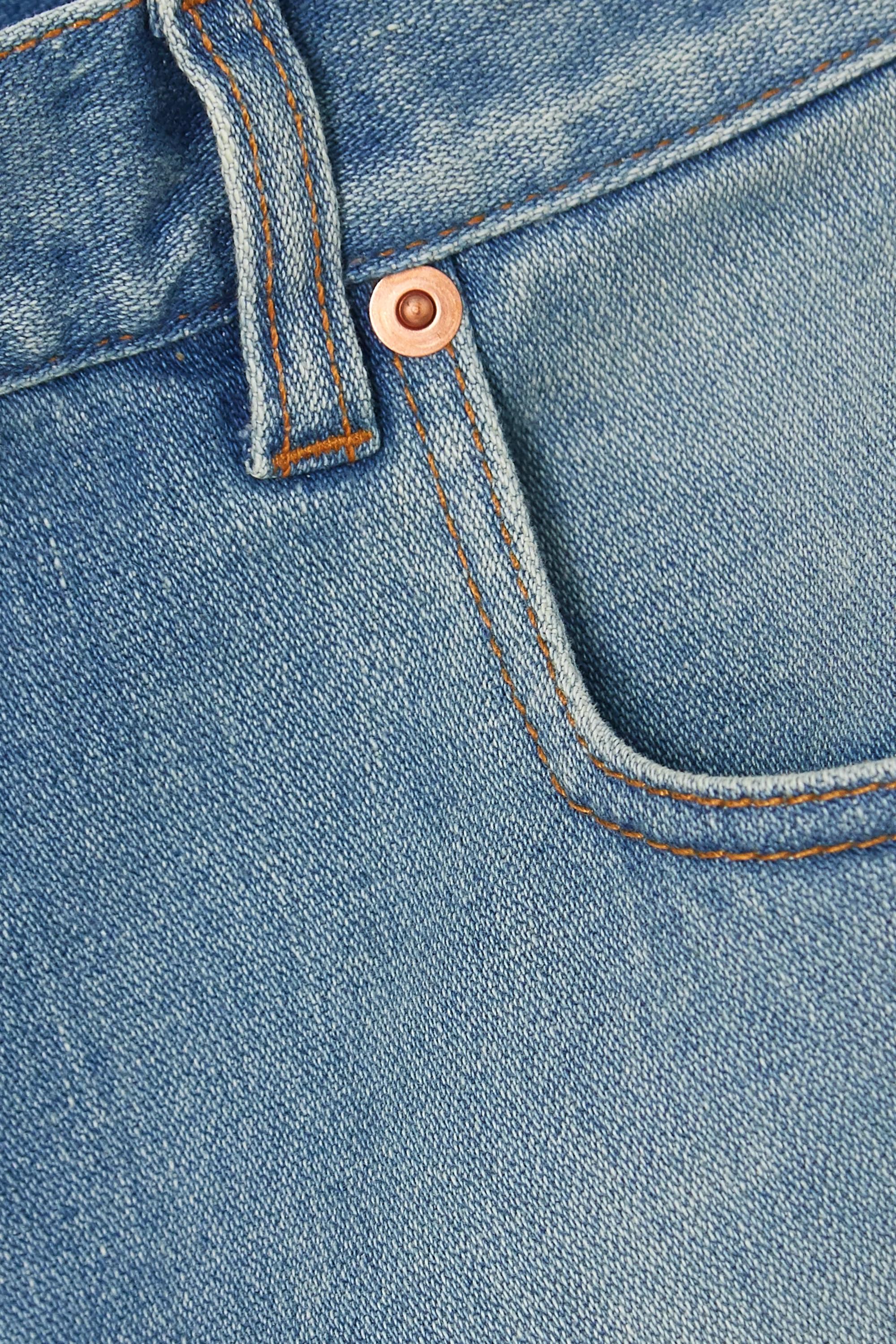 Gucci Appliquéd frayed denim shorts