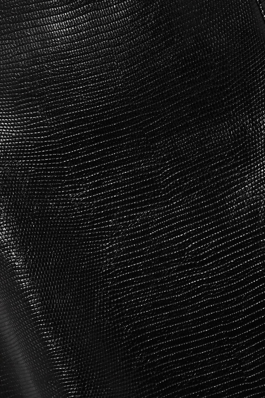 Gucci Midirock aus Leder mit Eidechseneffekt