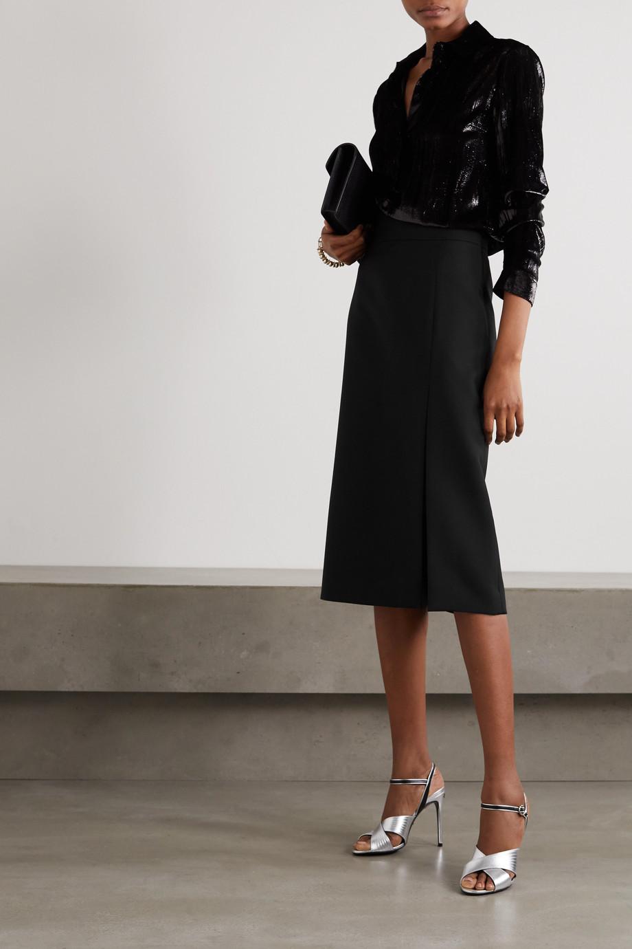 Gucci Silk and wool-blend cady midi skirt