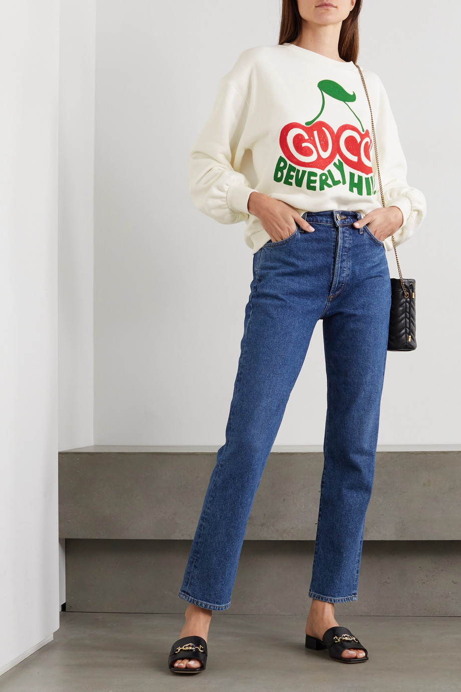 Gucci + NET SUSTAIN printed organic cotton-jersey sweatshirt