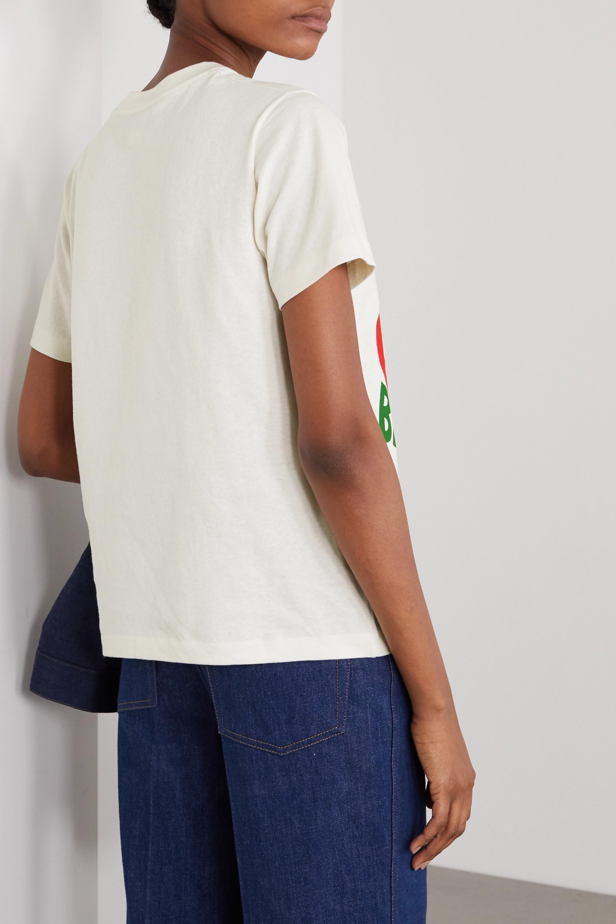 Gucci + NET SUSTAIN T-Shirt aus Biobaumwoll-Jersey mit Print