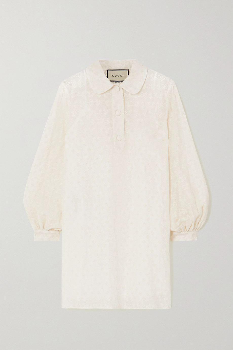 Gucci Embroidered cotton-blend jacquard shirt