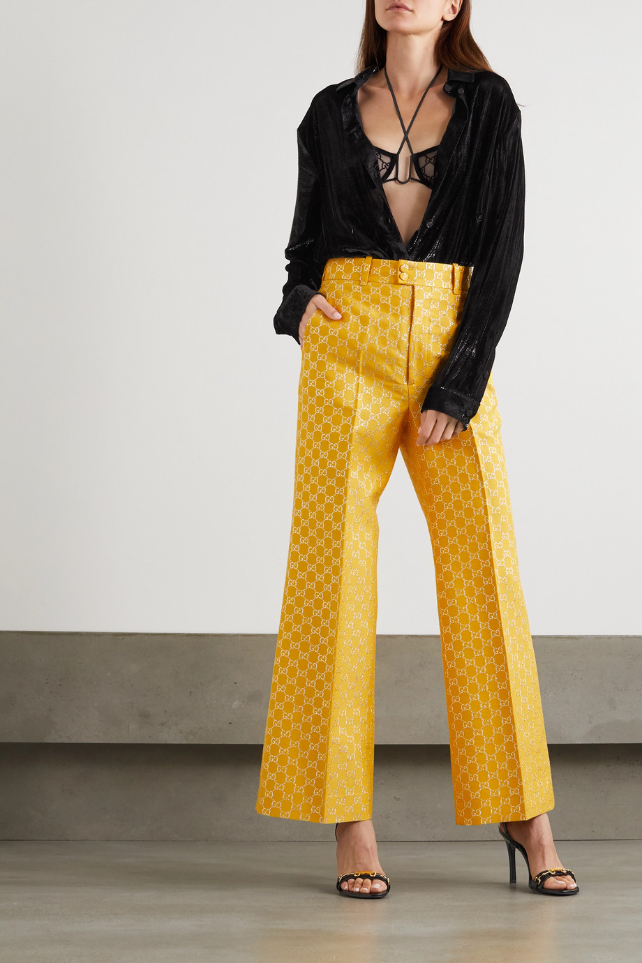 Gucci Metallic velvet shirt