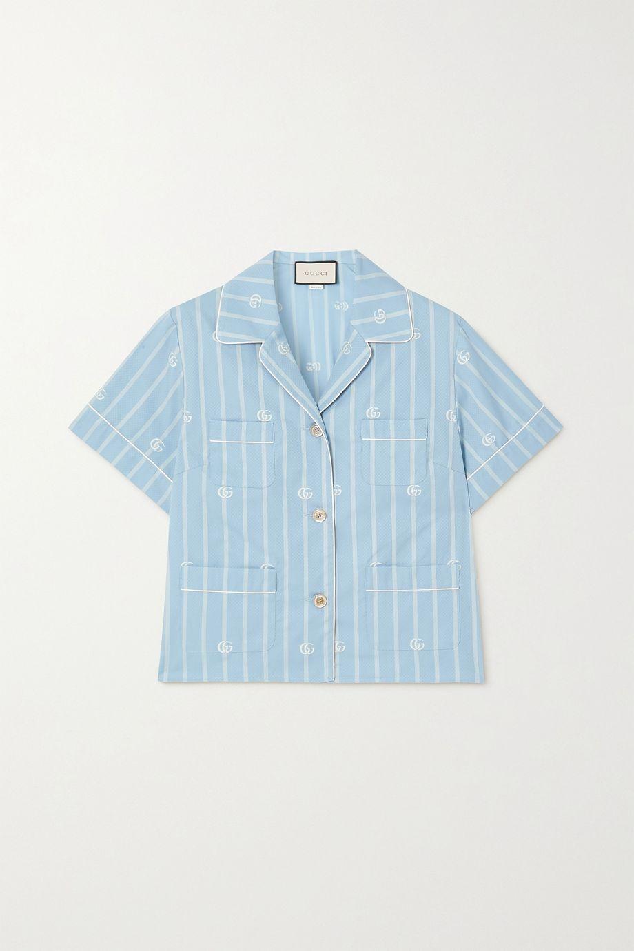 Gucci Striped cotton-jacquard shirt