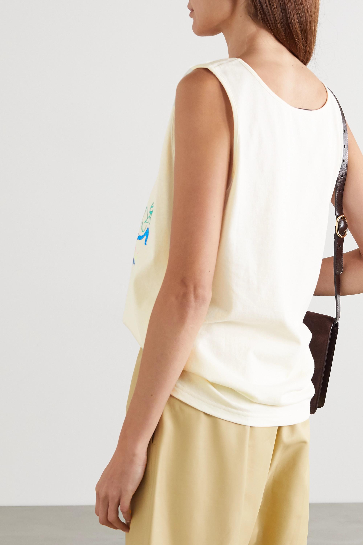 Gucci + NET SUSTAIN glittered printed organic cotton-jersey tank