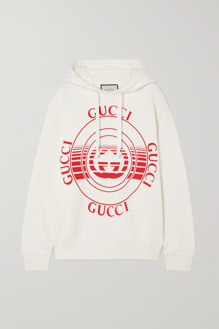 Gucci Printed cotton-jersey hoodie