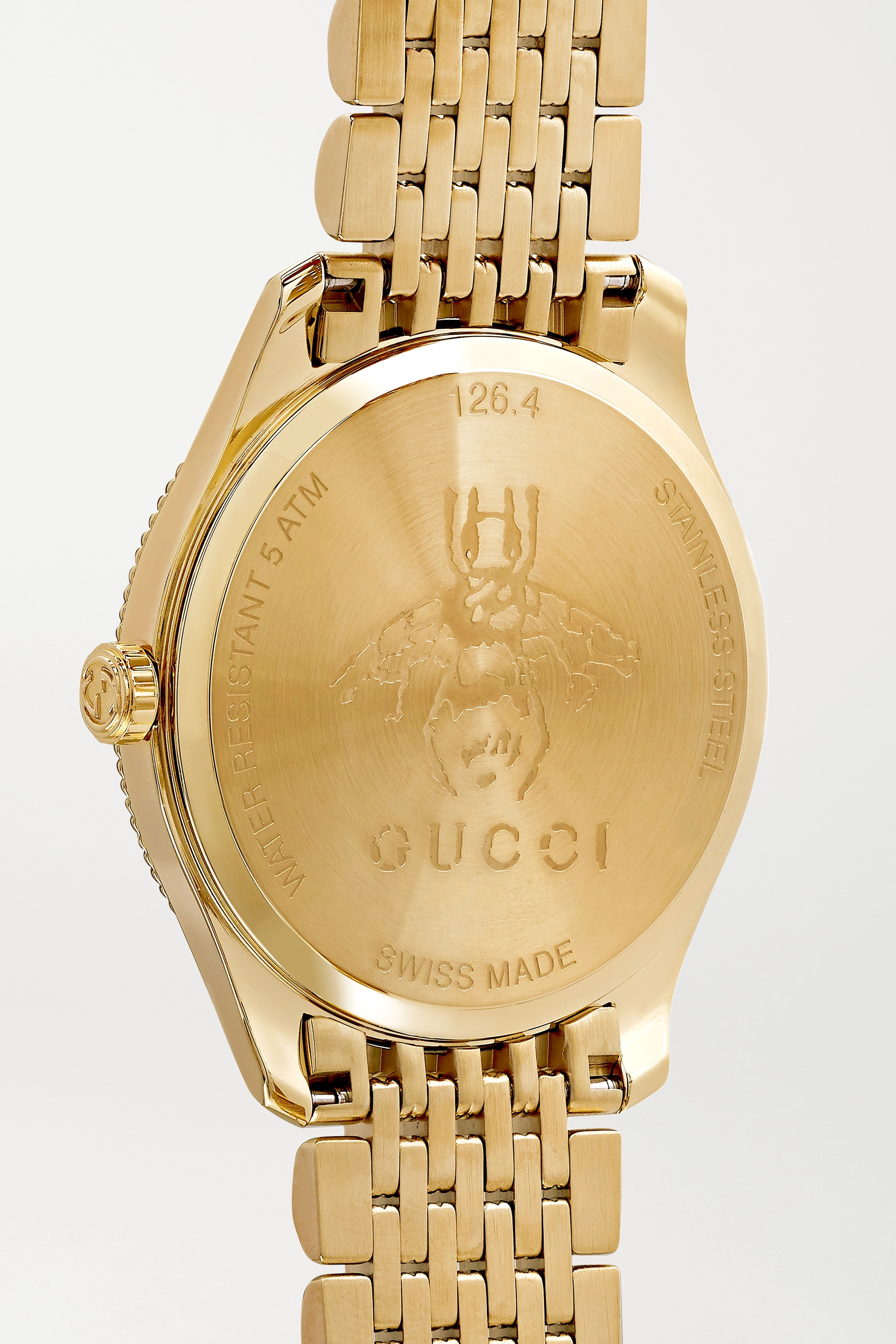 Gucci G-Timeless 29mm gold PVD-plated watch
