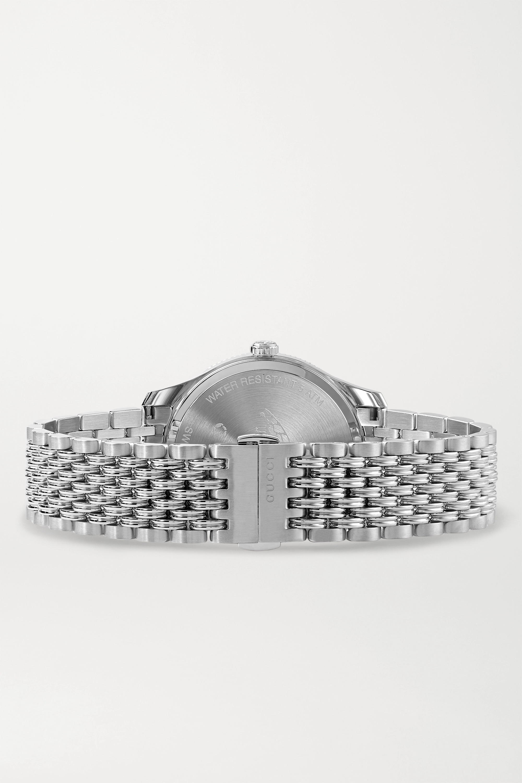 Gucci Montre en acier inoxydable G-Timeless 36 mm