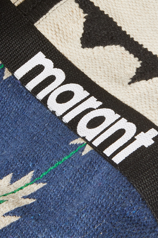 Isabel Marant Warden cotton-jacquard tote