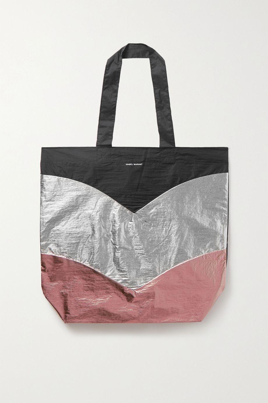 Isabel Marant Woom color-block metallic shell tote