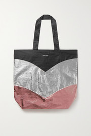 Isabel Marant Woom color-block metallic shell tote