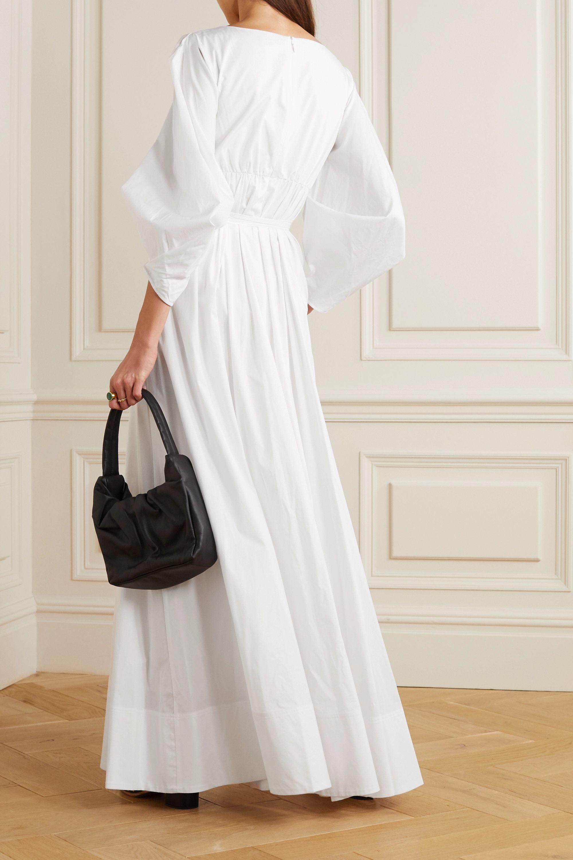 STAUD Juliette stretch-cotton poplin maxi dress