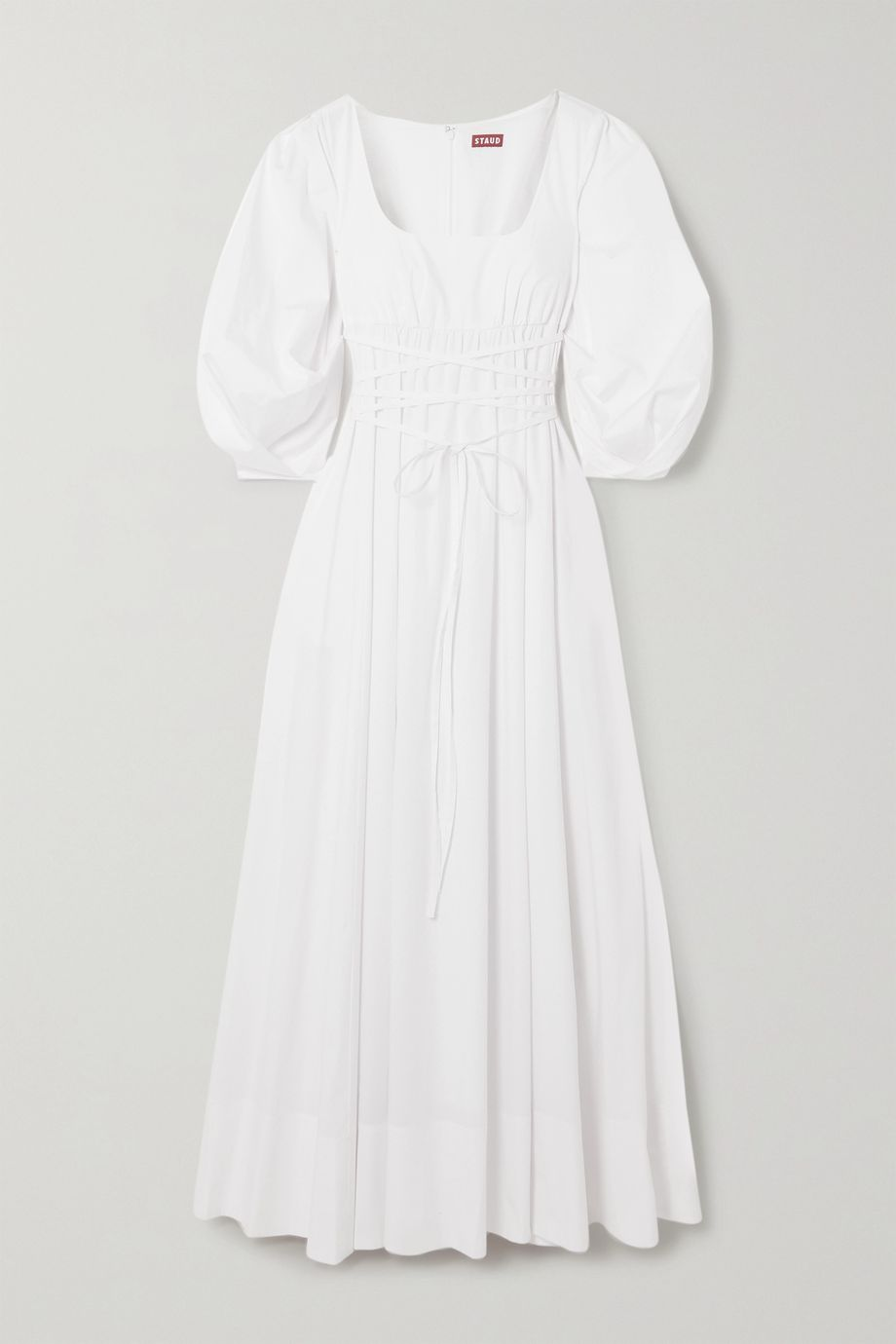 STAUD Juliette stretch-cotton poplin maxi dress