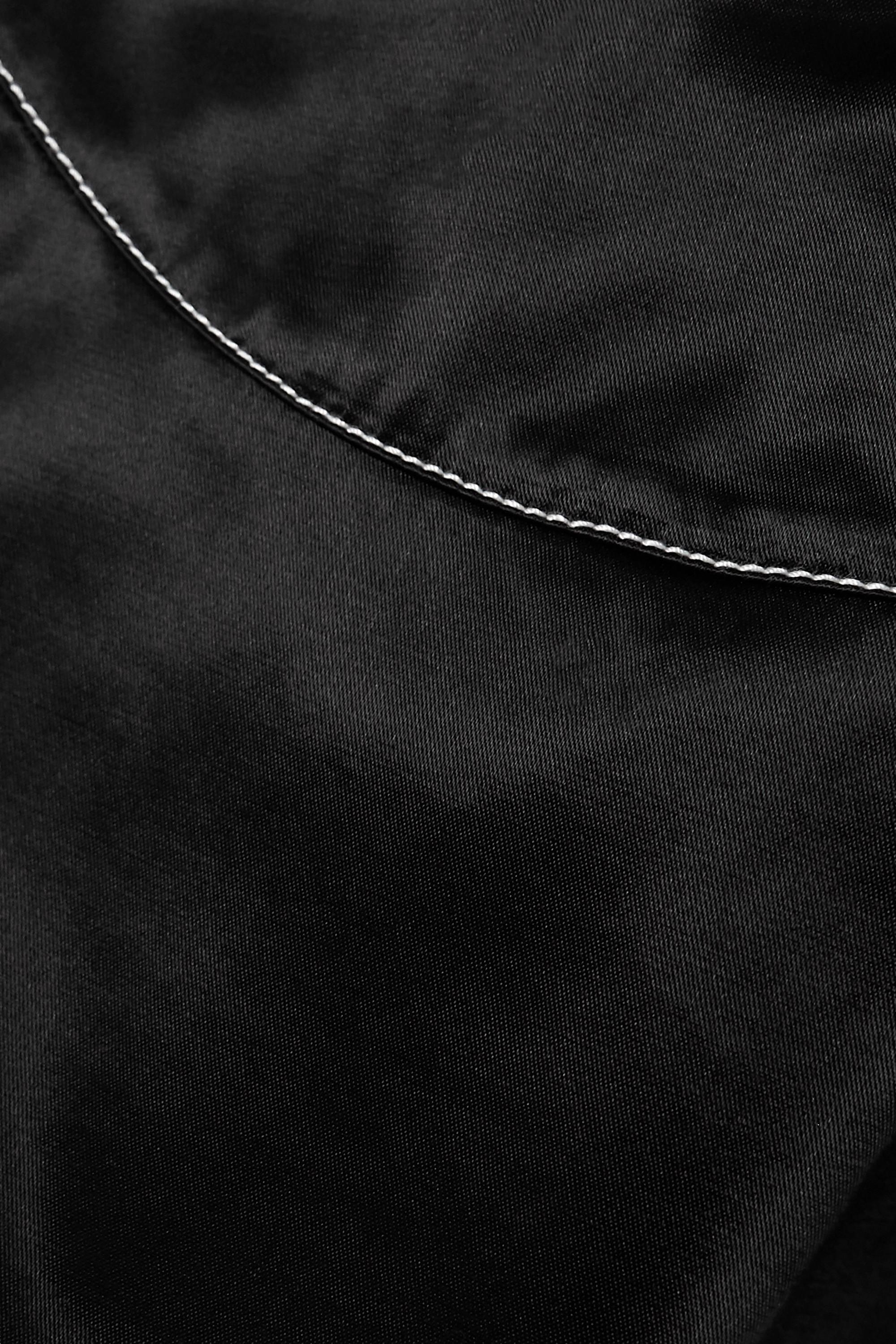 STAUD Syd open-back cropped cotton-blend satin halterneck top