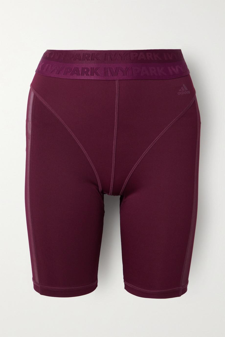 adidas Originals |  + Ivy Park mesh-trimmed stretch shorts | NET-A-PORTER.COM