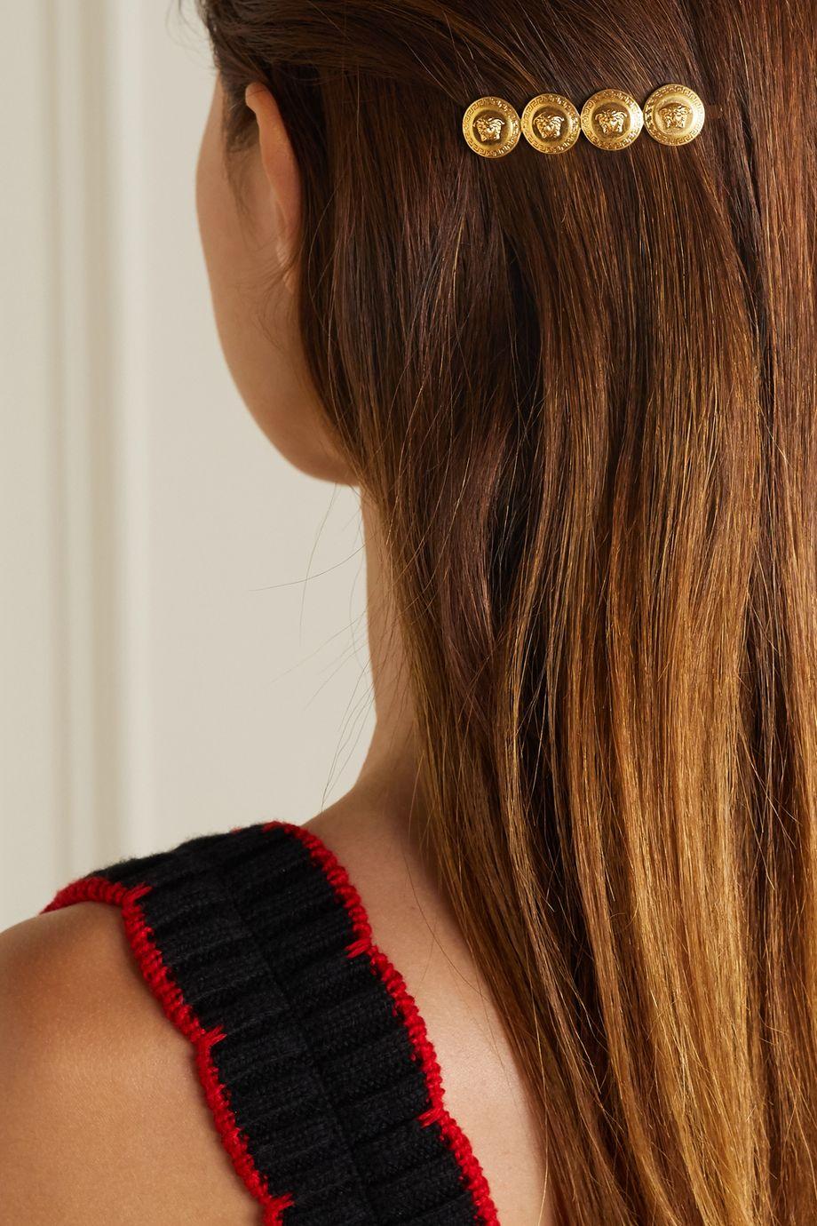 Versace 金色发夹