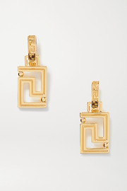 Versace Grecamania gold-tone earrings
