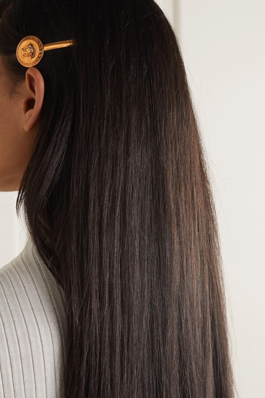 Versace Goldfarbene Haarspange