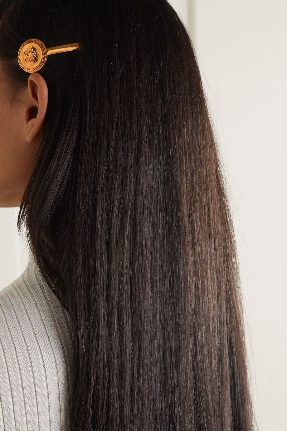 Versace Gold-tone hair slide