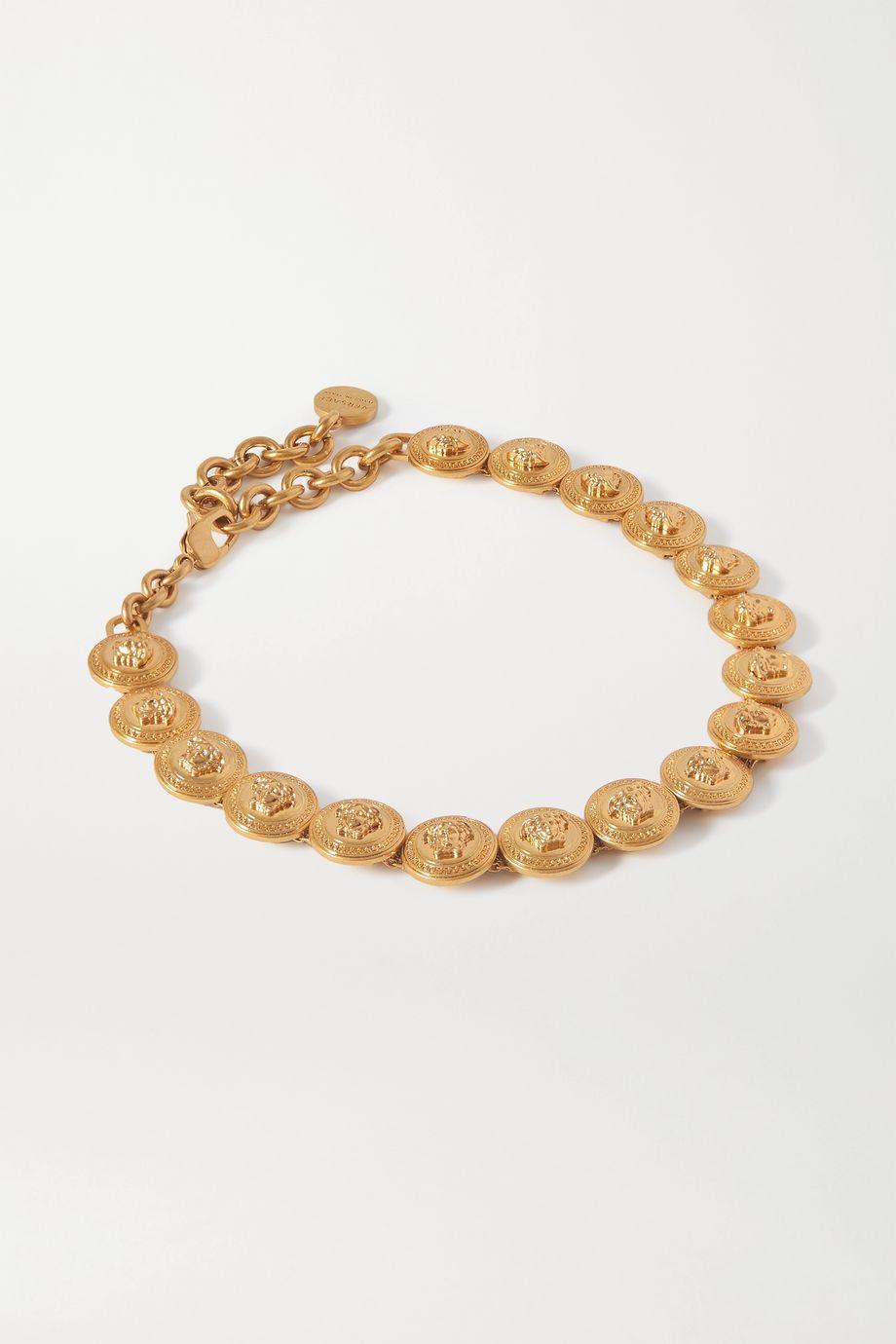 Versace 金色项圈式项链