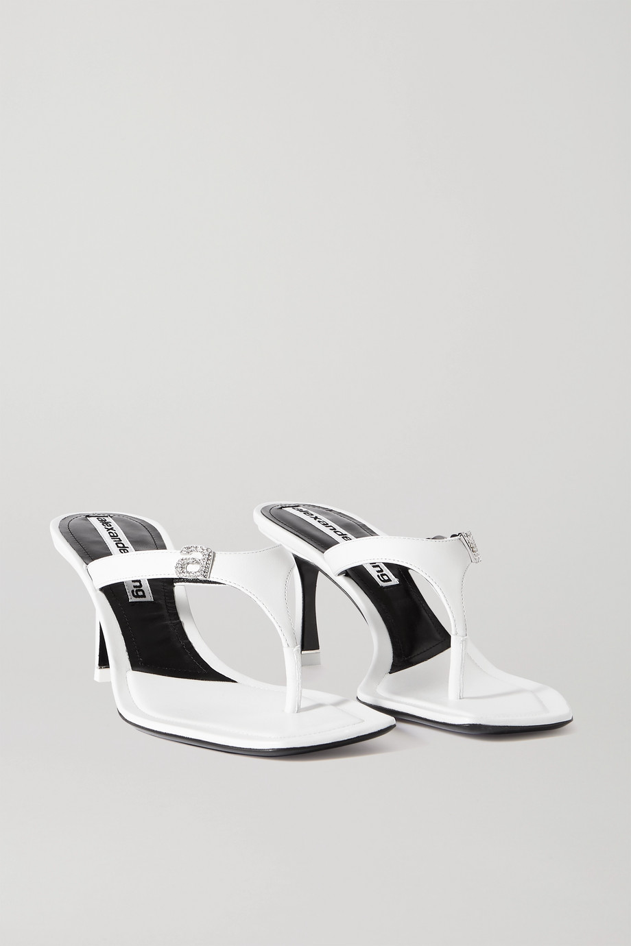 Alexander Wang Ivy crystal-embellished leather sandals