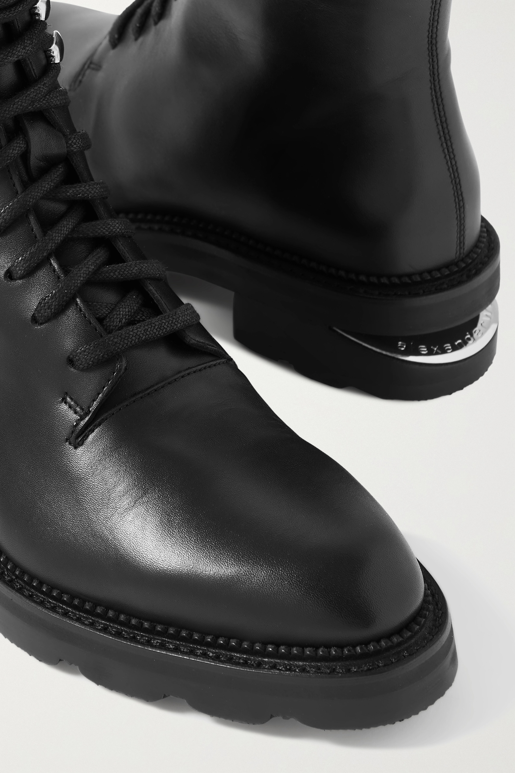 Alexander Wang Andy shearling-trimmed leather ankle boots
